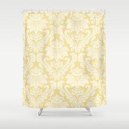 Cream Damasco Shower Curtain