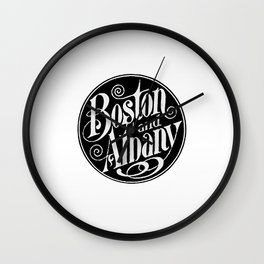 BOSTON & ALBANY Railroad circa 1900 Wall Clock