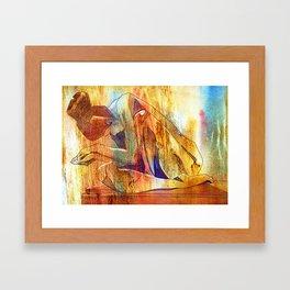 Restful Pose Framed Art Print