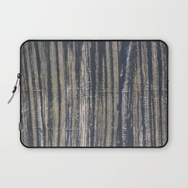 Gray blue striped Laptop Sleeve