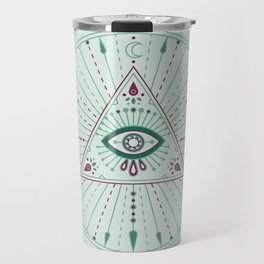 Evil Eye Mandala – Mint Travel Mug