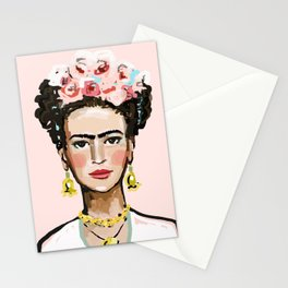 Face on Soft Pink Stationery Cards