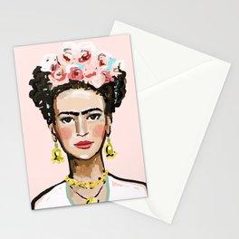 Frida on Soft Pink Stationery Cards