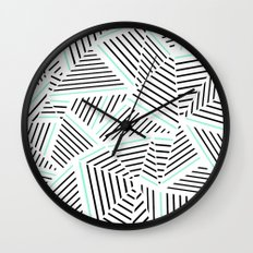 Ab Linear Zoom With Mint Wall Clock