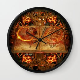 Open the Book of the Occult Wall Clock