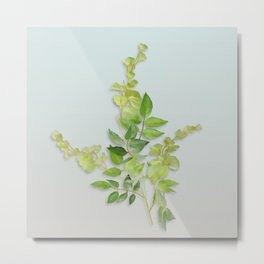 Yellow Tiny Flowers Metal Print