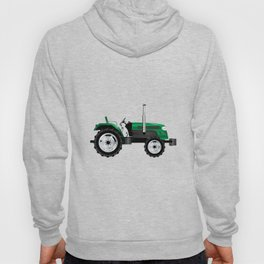 Green Isolated Tractor Hoody