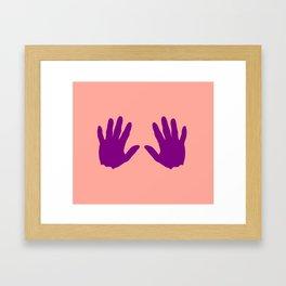 Hand 2 Framed Art Print