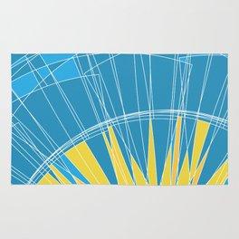 Abstract pattern, digital sunrise illustration Rug