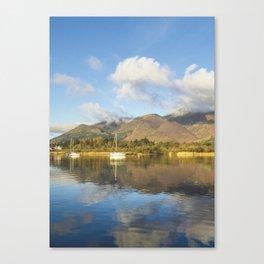 Boats On Derwentwater Canvas Print