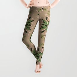 Wild plant pattern 1d Leggings