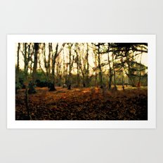 Autumn In The Forest - Painting Style Art Print