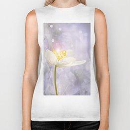 White Flower In The Forest Enchantments - Bokeh Background #decor #buyart #society6 Biker Tank