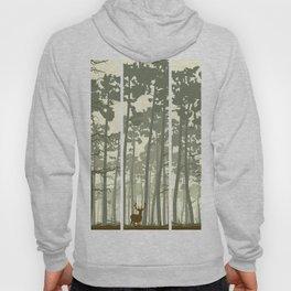 portrait deer forest Hoody