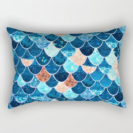 REALLY MERMAID BLUE & GOLD Rectangular Pillow