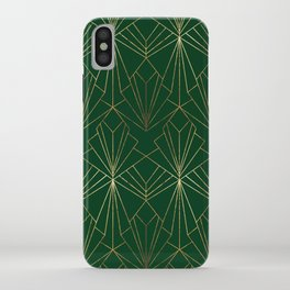 Art Deco in Gold & Green iPhone Case