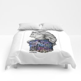 Galaxy Girl Watercolour Painting (Series 2) Comforters