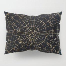 Golden Star Map Pillow Sham