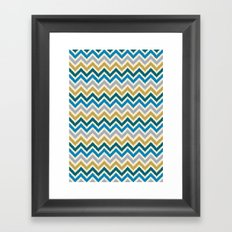Chevron 3 Framed Art Print