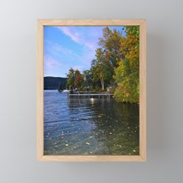 Autumn Arrives at the Lake Framed Mini Art Print