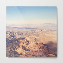 Nevada from Above Metal Print