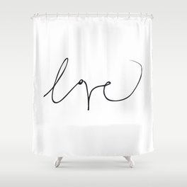 LOVE NO3 Shower Curtain