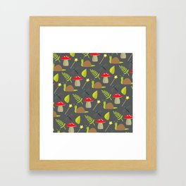 Fairy Garden Pattern 2 Framed Art Print