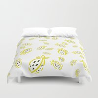 fruit Duvet Covers featuring Fruit by Minomiir
