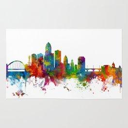 Des Moines Iowa Skyline Rug
