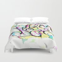 trip Duvet Covers featuring Trip by Parker Gibson