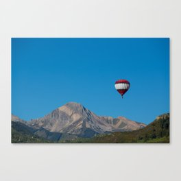 The Balloon and the Mountain  Canvas Print