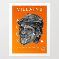 Alex DeLarge  Art Print