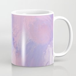 Abstract Pastel Blush Pink and Blue Coffee Mug