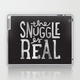Snuggle is real - black Laptop & iPad Skin