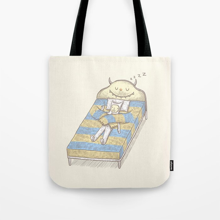 My Monster Bed Tote Bag