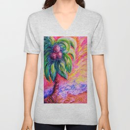 BEACH ABSTRACT Unisex V-Neck