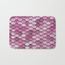 Light Pink Glitter Mermaid Sparkling Scales - Mermaidscales Bath Mat