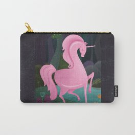 Enchanted Woodlands With A Pink Unicorn Carry-All Pouch