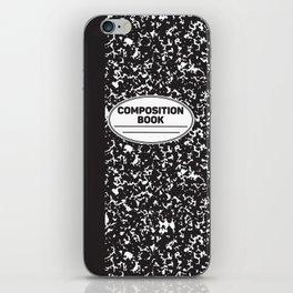 Composition Notebook College School Student Geek Nerd iPhone Skin