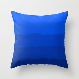 Endless Sea of Blue Throw Pillow