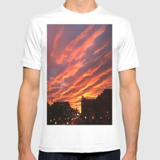 Dashing Dusk MEDIUM Mens Fitted Tee White