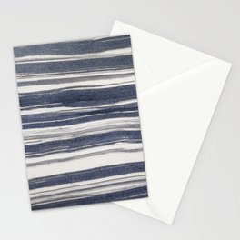 Brush stroke stripes Stationery Cards