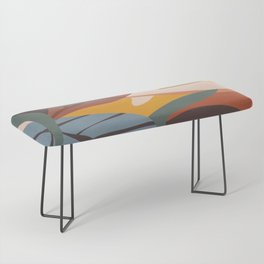 Abstract Art Jungle Bench