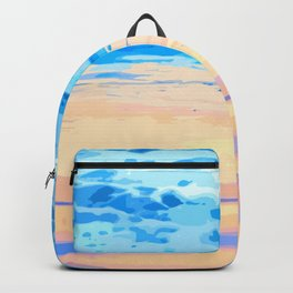 Sunset On The Shore #painting #nature Backpack