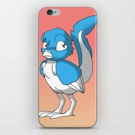 Light Blue/Color-Or-Paint-Your-Own Reptilian Bird 2 #ArtofGaneneK #Animal iPhone Skin