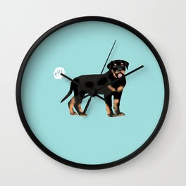 rottweiler funny farting dog breed pure breed pet gifts Wall Clock