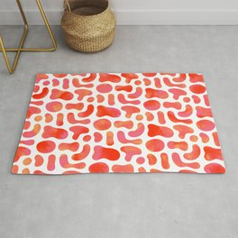 Secluded Rouges - Blob Shaped Pattern Rug