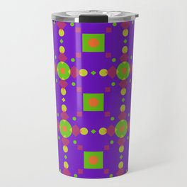 Neon Bus Seat Seamless Pattern Travel Mug