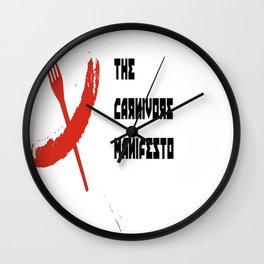carnivore manifesto - the cccp cookbook Wall Clock