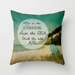 Swim the Sea Throw Pillow